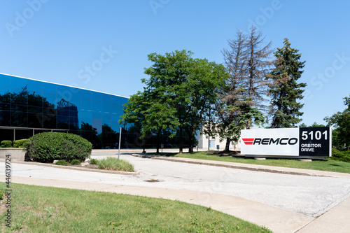 Fototapeta premium Mississauga, On, Canada - July 10, 2021: Remco Forwarding Limited Canada head office in Mississauga, On, Canada. Remco is a transportation and distribution leader across Canada.