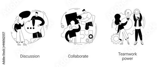 Fotografía Effective team-working abstract concept vector illustrations.
