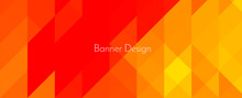 Abstract Yellow Geometric Colorful Mosaic Shape Banner Pattern Background