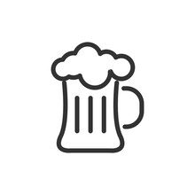 Beer Line Icon.