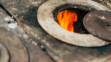 Wood Stove Is Well Known In The Colombian Countryside For Food Preparation.