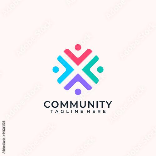 Fotografie, Obraz Collaboration community team logo concept for teamwork group