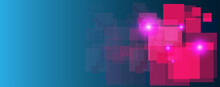 Pink Rectangle Technology Abstract Technology Innovation Concept Vector Blue Background And Glowing Light With Some Elements Of This Image