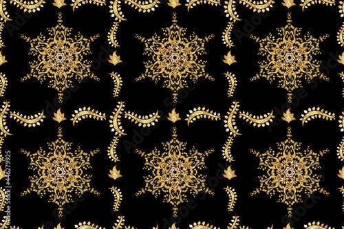 Fotografija Seamless pattern with interesting doodles on colorfil background