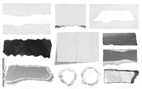 Carta da parati torn paper isolated on white background