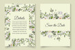 watercolor wedding invitation card save the date rsvp design template