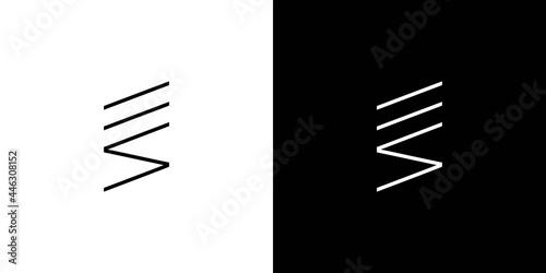 Canvas futuristic and modern initial letter ES logo design