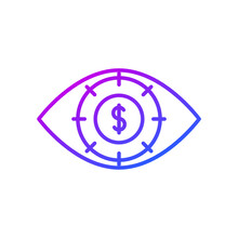 Eye And Dollar Sign Icon