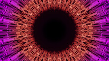 3D Rendering Of A Colorful Kaleidoscope Tunnel