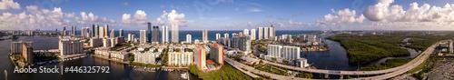 Fotografie, Obraz Beautiful aerial panorama of Sunny Isles Beach Florida USA
