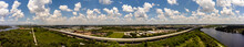 Aerial Photo Selmon Expressway Tampa FL With Elevated HOV Road