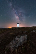 Milky Way On Old Windmill Nightscape With Stars