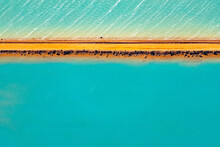 Aerial Photography, Useless Loop, Shark Bay, Western Australia, June 2021, Abstract Images Of Salt Ponds From Above In Varying Colors Of Blue, Green, And Brown Hues.