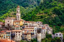 The Village Of Luceram, Alpes-Maritimes, Provence, France
