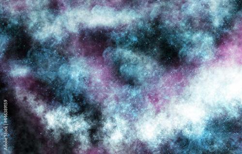 Obraz na plátně Space. Stardust. Night sky aesthetic. Wallpapers for desktop.