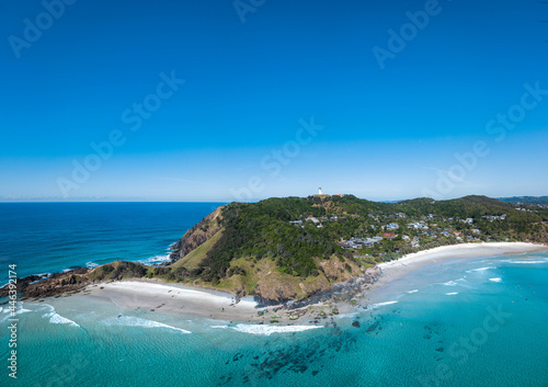 Murais de parede An aerial panoramic view of Byron Bay and Wategos Beach