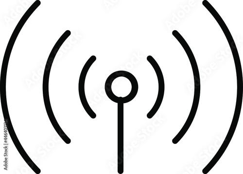 Fotografia Signal tower, wifi, wireless antenna icon vector illustration transparent background