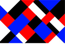 Red Black Blue Modern Square Tilt Pattern Vector Background