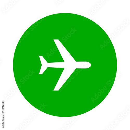 Cuadros en Lienzo Flugzeug und Kreis