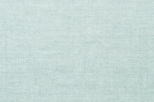 Linen Fabric Texture Background. Natural Turquoise Cloth Canvas Surface Closeup