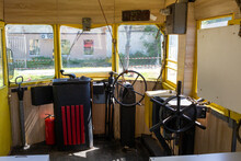 The Cabin Of An Old, Vintage Retro Tram.