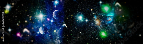 Fotografie, Obraz Space background with nebulas and stars