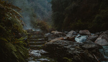 Hot Springs In The Himalayan Mountains, Junidanda Nepal