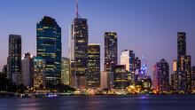 Brisbane City During Blue Hour