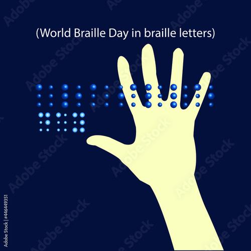 Fotografie, Obraz world braille day concept. illustration vector
