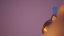 Concept Of Kitchen Utensils, Close Up Of A New Steel Teapot Spout. Action. A Kettle Isolated On A Pink Wall Background.