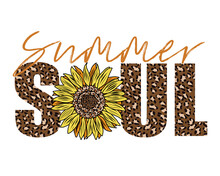 Summer Soul With Sunflower And Leopard Print