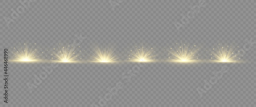 Fotografie, Obraz Light effect explosion sun, glitter spark flash.