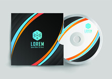 CD Disk And Box Label Design. Cd And DVD Disc Label Design Template, Cd Case Isolated, Vector Realistic Isolated Disk, Cd Box And Disc Mockup. Vector Illustration