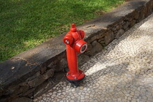 Red Fire Hydrant On A Street