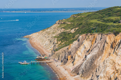 Obraz na plátně Alum Bay, Isle of Wight in Summer.
