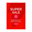 ILLUSTRATION ABSTRACT SALE POSTER TEMPLATES DESIGN. BACKGROUND SUPER SALE WITH 3D ELEMENTS VECTOR