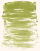 Watercolor Abstract Background From Textured Brush Strokes Of Green Paint