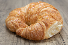 Plain Croissant Roll Is Textured With Flakey Brust For A Baked Treat Delight