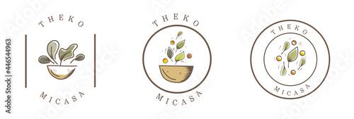 food vintage badge logo for brand design Fotobehang