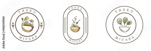Fotografering food vintage badge logo for brand design
