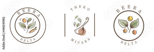 food vintage badge logo for brand design Fototapet