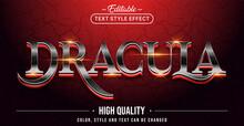 Editable Text Style Effect - Dracula Text Style Theme.