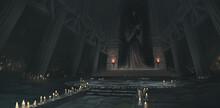 夜の神殿/イラスト背景