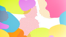 Pop Color Paint Splash Pattern Geometric Design Trendy  Background