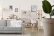 Leinwandbild Motiv Interior of stylish living room with pictures