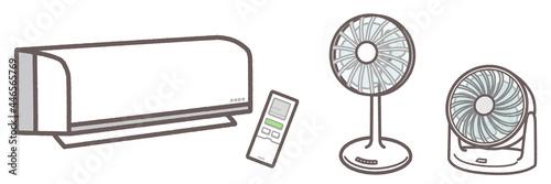 Wallpaper Mural エアコン 扇風機 サーキュレーター