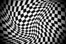 Gradient Distorted Checkered Background