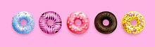 Illustration Donuts Top View