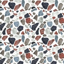 Hand Painted Colorful Terrazzo Pattern_3