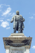 """The Monument To Cavour, Was Dedicated To The Great Diplomat And Statesman Camillo Benso Di Cavour,the High Base Is Decorated With Bronze Sculptural Groups Representing """"Thought"""" And """"Action"""". Rome"""